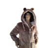 Polaire Capuche Femme Avec Oreilles Beige/Rose Clair
