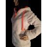 Polaire Capuche Femme Avec Oreilles Blanc Optic/Rose Fluo