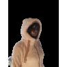 Polaire Capuche Femme Blanc/Beige